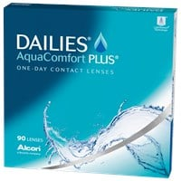 DAILIES AQUACOMFORT PLUS 90pk contact lenses